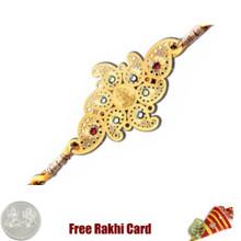Diviniti 24 Ct. Gold Laxmi Rakhi - Canada Delivery