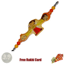 Natkhat Bheem Rakhi with a Free Silver Coin - Canada Delivery