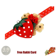 Red Heart Rakhi with a Free Silver Coin - Canada Delivery
