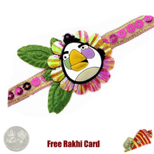 Angry Bird Character Rakhi with a Free Silver Coin - Canada Delivery