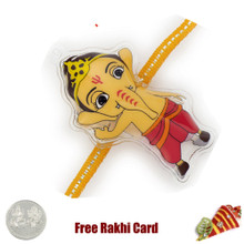 Bal Ganesha Rakhi with a Free Silver Coin - Canada Delivery