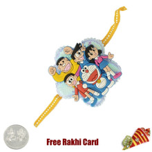 Doremon Group Rakhi with a Free Silver Coin - Canada Delivery