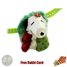 Snoopy Rakhi with a Free Silver Coin - Canada Delivery