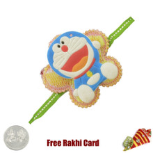 Doremon Rakhi with a Free Silver Coin - Canada Delivery