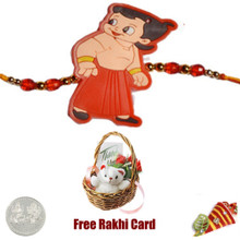 Kids Rakhi with Teddy Bear - Canada Delivery