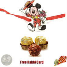 Mickey Rakhi with 3 Piece Ferrero Rocher - Canada Delivery