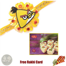 Kids Rakhi with 500 gms Soan Papadi - Canada Delivery