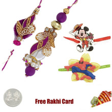 Handcrafted Zardosi Family Set with a Free Silver Coin - Canada Delivery