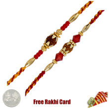 Rudraksh Rakhi Set of 2 - Canada Delivery