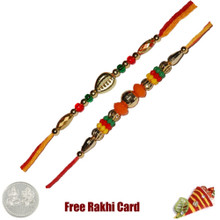 Set of 2 Beaded Rakhi - Canada Delivery