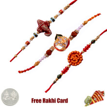 Mauli Rakhi Set of 3 - Canada Delivery
