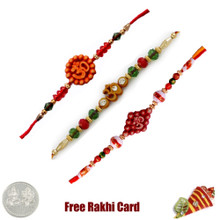 Om Rakhi Set of 3 - Canada Delivery