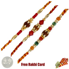 Rudraksh Rakhi Set of 3 - Canada Delivery