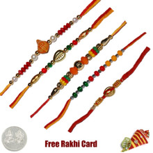 Mauli Rakhi Set of 5 - Canada Delivery