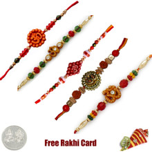 Om Rakhi Set of 5 - Canada Delivery