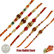Rudraksh Rakhi Set of 5 - Canada Delivery