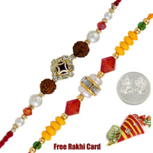 Fancy Rakhi Set of 2 - Canada Delivery