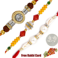 Fancy Rakhi Set of 3 - Canada Delivery