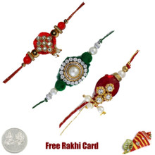 Zardosi Rakhi Set of 3 - Canada Delivery