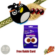 Kids Rakhi with Cadbury Dairy Milk Buttons Bag  - UK Delivery