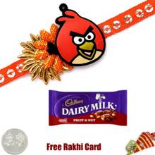 Kids Rakhi with Cadbury Fruit & Nut   - UK Delivery