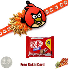 Kids Rakhi with Kit Kat 4 Finger Milk Chocolate Bar  - UK Delivery