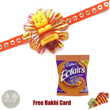 Kids Rakhi with Cadbury Eclair Hazelnut  - UK Delivery