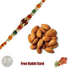 Ethnic Rakhi with 100 grams Almonds - UK Delivery