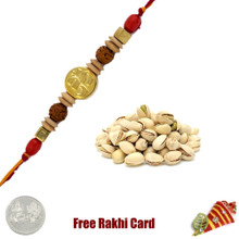 Ethnic Rakhi with 200 grams Pistachios - UK Delivery