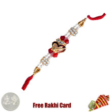Big Om Rakhi with Free Silver Coin - UK Delivery