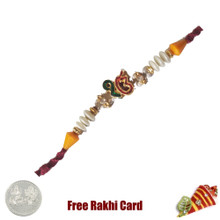 Ek Onkar Gold Rakhi with Free Silver Coin - UK Delivery