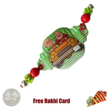 Motu Patlu Rakhi with a Free Silver Coin - UK Delivery