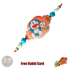 Doremon Rakhi with a Free Silver Coin - UK Delivery