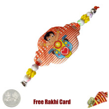 Chhota Bheem Rakhi with a Free Silver Coin - UK Delivery