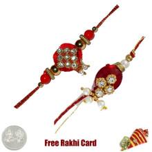 Zardosi Rakhi Set of 2 - UK Delivery