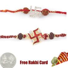 Jewelled Rakhi Set of 2 - UK Delivery