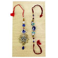 Blue Stunner Lumba Rakhi Set - 9451