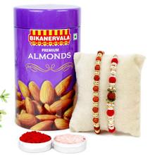 Premium Almond Rakhi Combo - RBDF17-23