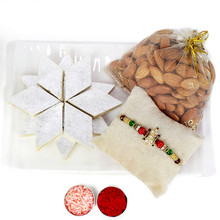 Barfi and Almond Special Rakhi Combo - RBSWT17-12