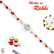 Cylinderical Beads Mauli Thread Rakhi - PRS1702