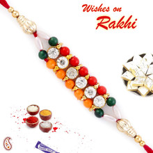 Colorful Joint Beads Mauli Rakhi - PRS1720
