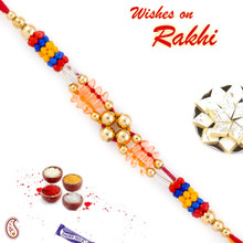 Royal Shade Beads Thread Rakhi - PRS1762