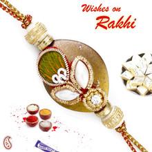 Amazing Rakhi with Pearl & Zardosi work - PRS17112