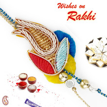 Multicolor Sweet Rakhi with Zardozi work - PRS17114