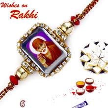 Crystal & Beads Sai Ram Rakhi - RJ17206