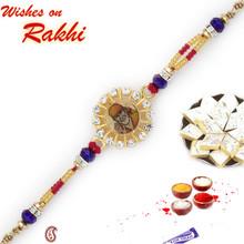 Multicolor Beads Sai Ram Motif Rakhi - RJ17212