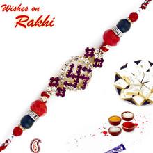 Multicolor Beads Swastik Motif Rakhi - RJ17220