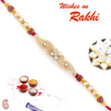 Beautiful Floral Style Rakhi with Net Base - RJ17317