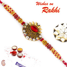 Artistically Designed & Jewelled Rakhi - RJ17321
