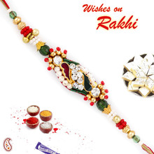 Charming Multicolor Crystal Beads Stylish Rakhi - RJ17323